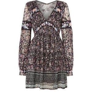Free People Floral Boho Embroidered Lace Dress